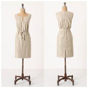 New Maeve Flaxen Linen Shimmer Dress 0